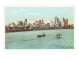 Skyline, Detroit, Michigan Prints