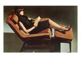 Lady in Reclining Chair Poster