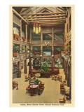 Lobby, Many Glacier Hotel, Glacier Park, Montana Posters
