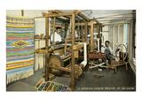 Serape Weavers, Mexico Poster