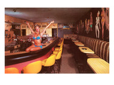 Swedish Girl in Bathing Suit on Bar, Retro Affischer