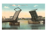 Lift Bridge, Saginaw, Michigan Print
