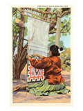 Navajo Rug Weaver Art