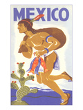 Travel Poster with Tarahumara Indian Running Posters