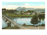Bridge, Sugar Loaf Mountains, New Hampshire Prints