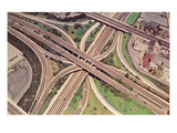 Freeway Cloverleaf from Above Posters