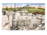 Granite Quarry, St. Cloud, Minnesota Print