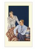 Men Modeling Clothes Print