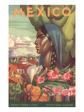 Mexico Poster, Native Woman Art