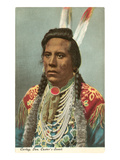 Curley, Crow Indian, General Custer's Scout Premium Giclee Print