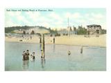 Bath House, Beach, Pentwater, Michigan Prints