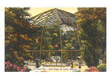 Bird Cage in Zoo, St. Louis, Missouri Prints
