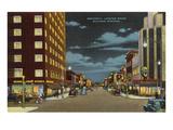 Night, Broadway, Billings, Montana Art