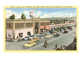 Street Scene of Forties Tijuana, Mexico Prints