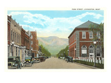Park Street, Livingston, Montana Posters