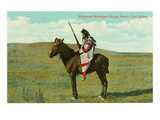 Mustatem Moutiapec à dos de cheval, Indien Cree Art