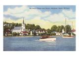 St. Anns-Kirche,Mackinac-Insel, Michigan Kunstdrucke