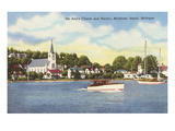 St. Ann's Church, Mackinac Island, Michigan Prints