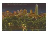 Night, Minneapolis, Minnesota Prints