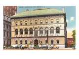 Library, Washington Park, Newark, New Jersey Print