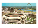 Stadium and Arch in St. Louis, Missouri Posters