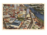 Aerial View, St. Paul, Minnesota Posters