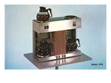 Double Coffee-Maker, Retro Poster