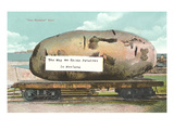 Giant Potato on Flatbed, Montana Print