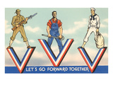 Let's Go Forward Together Prints