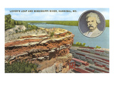 Lovers Leap, Hannibal, Missouri Print