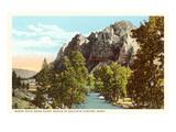 Sheep Rock, Gallatin Canyon, Montana Posters