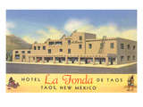Hotel La Fonda in Taos, New Mexico Print
