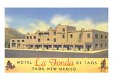 Hotel La Fonda in Taos, New Mexico Premium Giclee Print