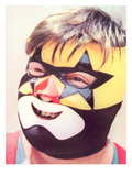 Young Chubby Boy in Wrestling Mask Prints