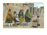Women of Tesuque Pueblo, New Mexico Poster