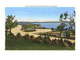 Lake Nokomis Park, Minneapolis, Minnesota Print