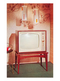 TV Set, Retro Poster