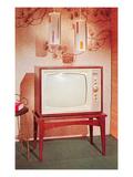 TV Set, Retro Print