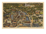 Aerial View, Battle Creek, Michigan Prints