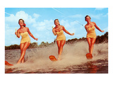 Three Bathing Beauties Waterskiing Print