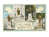 Various Monuments, Raleigh, North Carolina Posters