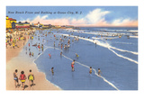 Beach Scene, Ocean City, New Jersey Prints