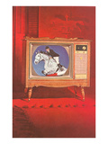 Horse Jumping on TV Prints