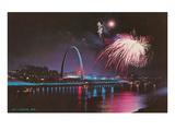 Fireworks over St. Louis Arch, Missouri Prints