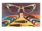 Retro Eyeglasses Pôsters