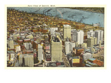 Aerial View, Detroit, Michigan Prints