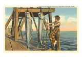 Tarpon on Dock, Biloxi, Mississippi Posters