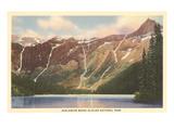 Avalanche Basin, Glacier Park, Montana Art