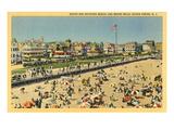 Beach and Boardwalk, Ocean Grove, New Jersey Print