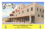 Hotel La Fonda in Taos, New Mexico Prints